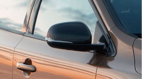 V40 Black Door Mirror Cover